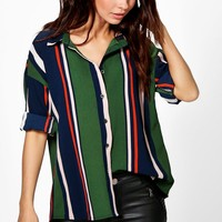Freya Mixed Stripe Oversized Shirt