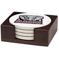 Thirstystone VUAL2-HA42 Stoneware Drink Coaster Set with Holder, University of Alabama