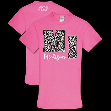 Couture Above The Line Soft Collection Leopard Michigan T-Shirt