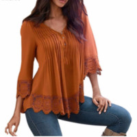 Lace Peasant Blouse, Multiple Colors