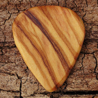 Wooden Guitar Pick - Olivewood