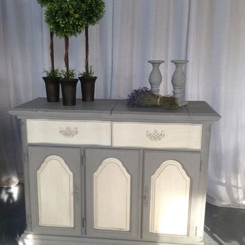 Hand Painted Vintage French Inspired Buffet,Sideboard, Server