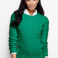 Women's Drifter Cable Pullover Sweater from Lands' End