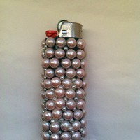 Pearl Deco Bic Lighter from Pale Petals