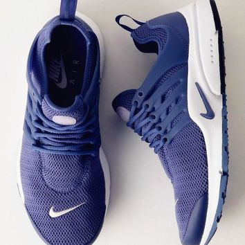 """NIKE""Air Presto Women Men Fashion Running Sport Casual Shoes Sneakers Dark blue B-AA"