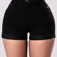 Madelyn Denim Shorts - Black