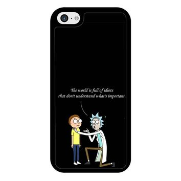 Rick And Morty Quotes iPhone 5/5S/SE Case