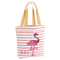 Sea Breeze Tote - Coral Stripe