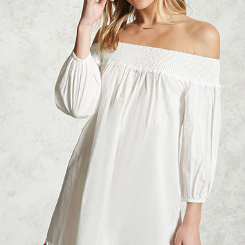 Tasseled Off-the-Shoulder Dress