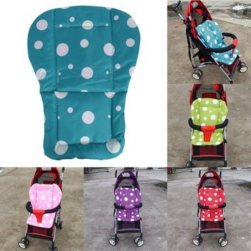 Baby Stroller Pad Thicken Dot Printed 600D Oxford Cloth Kids Pushchair Cushion Car Seat Pad Highchair Mat Stroller Accessories