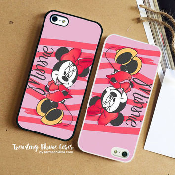Minnie Mouse Pink Line  iPhone Case Cover for iPhone 6 6 Plus 5s 5 5c 4s 4 Case