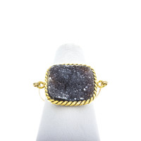 RN44-Large Square Druzy Rings – Rafia