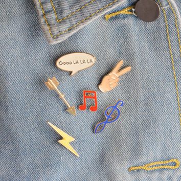MUSICAL PIN SET