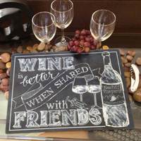 Personalized Wine Cutting Boards and Trays - Call 866-264-6549