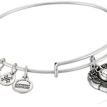 "Alex and Ani ""Path of Symbols"" Guardian Angel Expandable Wire Bangle Charm Bracelet"