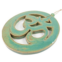 Handmade Ceramic Ohm Wall Hanging - Spiritual Decor - Zen Home Decor