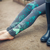 Mint beetles leggings - Available in sizes XS-L