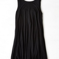 AEO Women's Cross Strap Tank Dress (Black)