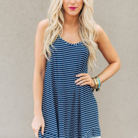 Navy Trip to the Country Dress