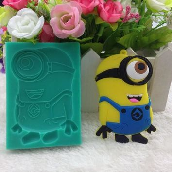 Luyou Classic DIY Minions Fondant Cake Molds Soap Chocolate Mould For The Kitchen Baking Tools Silicone Mold FM718