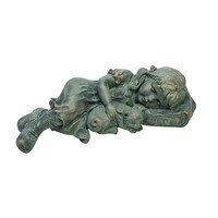 SheilaShrubs.com: Sarah Slumbers: Little Girl and Kitten Garden Statue EU1549 by Design Toscano: Garden Sculptures & Statues