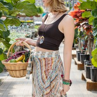 NEW! Funky Colors Hippie Wrap Skirt