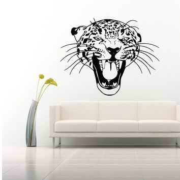 Wall Decal Vinyl Sticker Decals Art Home Decor Design Mural Leopard Print Wild Cat Wildcat Animals Panther Tiger Bedroom Bathroom Dorm AN45