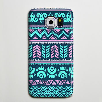 Turquoise Aztec Tribal Retro Galaxy s6 Edge Plus Case Galaxy s6 s5 Case Samsung Galaxy Note 5 4 3 Phone Case s6-034