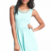 Pearl Collar Skater Dress - LoveCulture