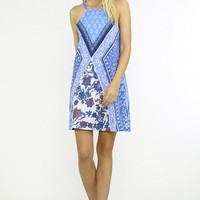 Jealous Tomato Blue Multi Print Dress