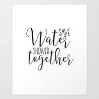BATHROOM WALL ART, Save Water Shower Together,Bathroom Sign,Shower Decor,Funny Gift,Funny Print,Coup Art Print by Printable Aleks