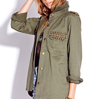Spiked Military Jacket