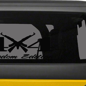 4X4 Freedom Edition AK47 2nd Amendment Right to Bear Arms Supporter Vinyl Decals -0239