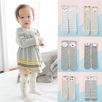 Cute Carton Baby Girl Kids Knee High Socks Stocking Cotton Baby Toddler Leg Warm Leggings Infant Non-slip baby accessories