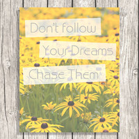 Inspirational Quote Typography - Sunflower Picture, Nature Pictures, Flowers, Floral - Motivational Quotes, Letterpress - Digital Download
