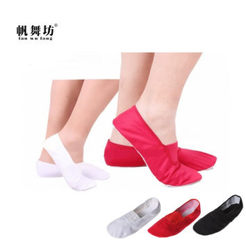 fan wu fang 2017 Hot 3 Color Soft Sole Canvas Gym Shoes Ballet Dance Shoes Slippers Women Girls Children According The CM To Buy