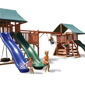 Playnation Midway Wooden Swing Set