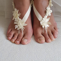 beach,Imitation leather flowers,  wedding sandals,  shoes,   free shipping!   Anklet,   bridal sandals,  bridesmaids,  wedding  gifts.......