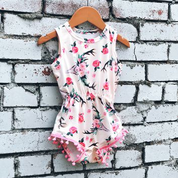 Roses and Cow Skull Romper