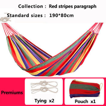 One Person Adult Canvas Hammock