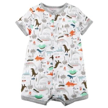Baby Boy Carter's Dino Print Snap-Up Romper | null