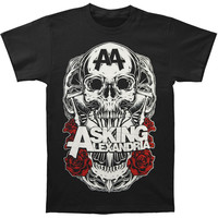 Asking Alexandria Men's  Black Shadow T-shirt Black Rockabilia