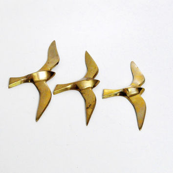 Brass Seagull Wall Hangings