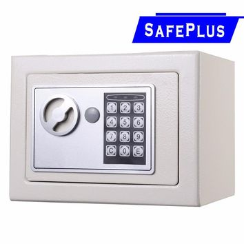 Goplus NEW Small White Digital Electronic Safe Box Keypad Lock Home Office Hotel Gun Money Storage Security Box HW49694WH