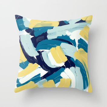 Abstract painting 111 Throw Pillow by Lora Si