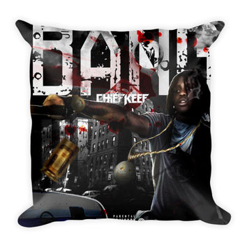 Bang (16x16) All Over Print/Dye Sublimation Chief Keef Couch Throw Pillow Insert & Pillow Case/Cover