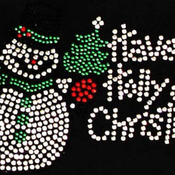 Rhinestone Christmas Cheer Shirt - Bling Shirt