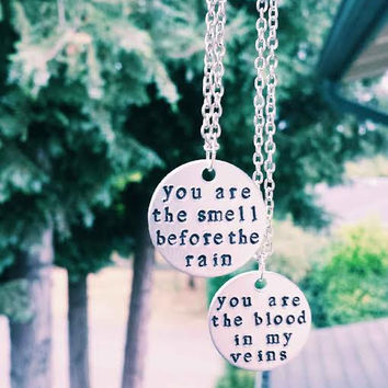 Brand New Band Hand Stamped Necklace
