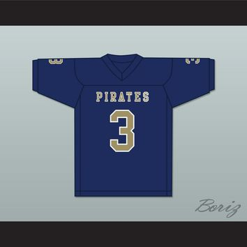 Nino Alibegic 3 Independence Community College Pirates Dark Blue Football Jersey