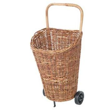 Eco Displayware C1787NRL Rattan European Market Cart